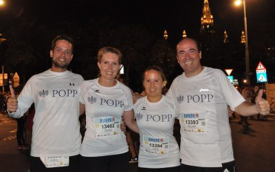 Team POPP beim Vienna Night Run