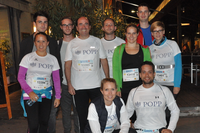 Team POPP beim Vienna Night Run 2016