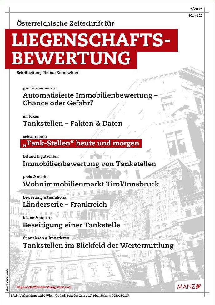 Österreichische Zeitschrift für Liegenschaftsbewertung