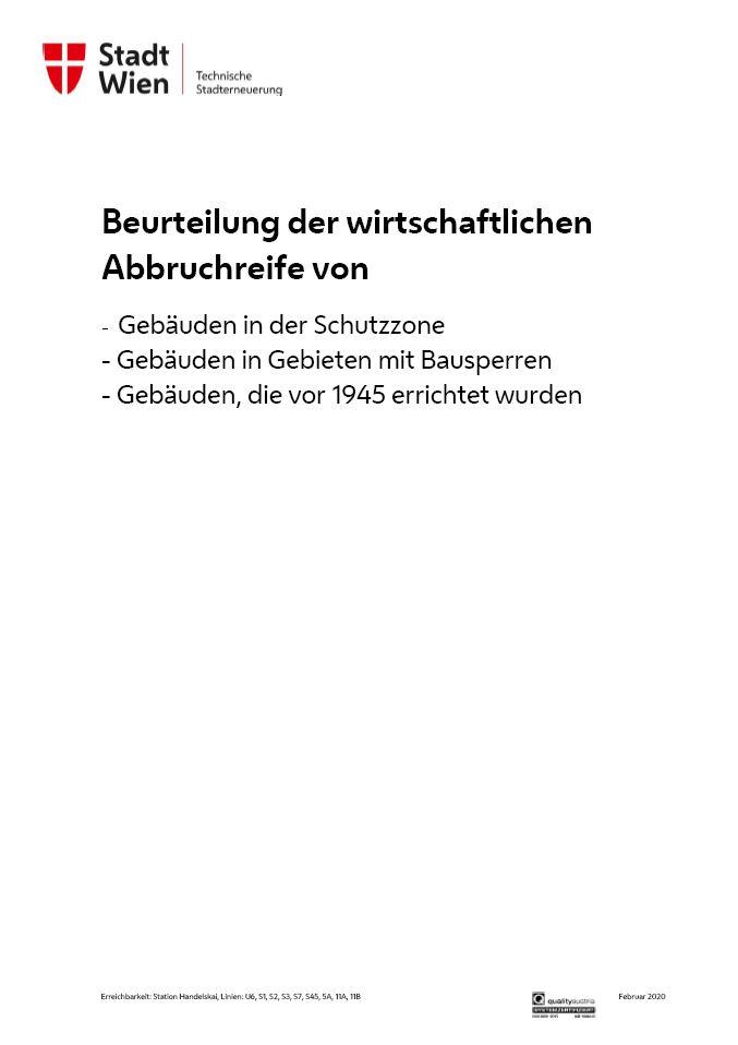 Roland POPP Sachverständiger Gutachten wirtschaftliche Abbruchreife Wien