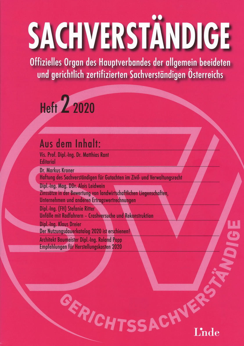 Sachverständige_Empfehlungen-für-Herstellungskosten 2020_Roland-POPP